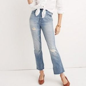 NWT Madewell Cropped Demi Boot Jeans 30